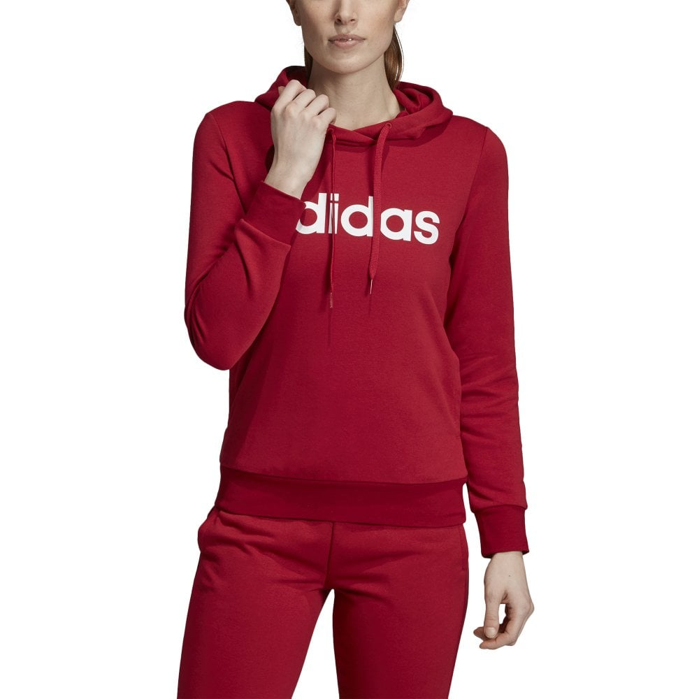 new arrival bc52b b3698 Women's Essentials Linear Pullover Hoodie Maroon