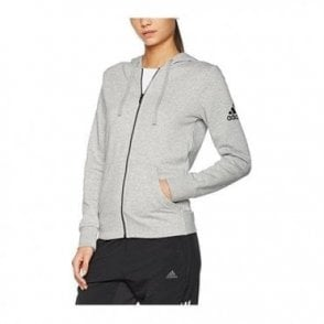 Womens Essentials Solid Full Zip Hoodie