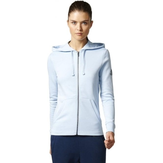 Adidas Womens Essentials Solid Fullzip Hoodie