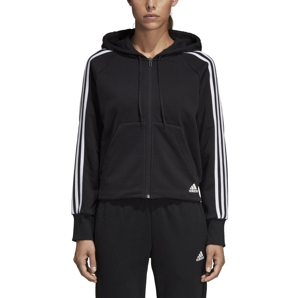 the cheapest best online classic shoes Women's Must Haves 3 Stripes Hoodie Black