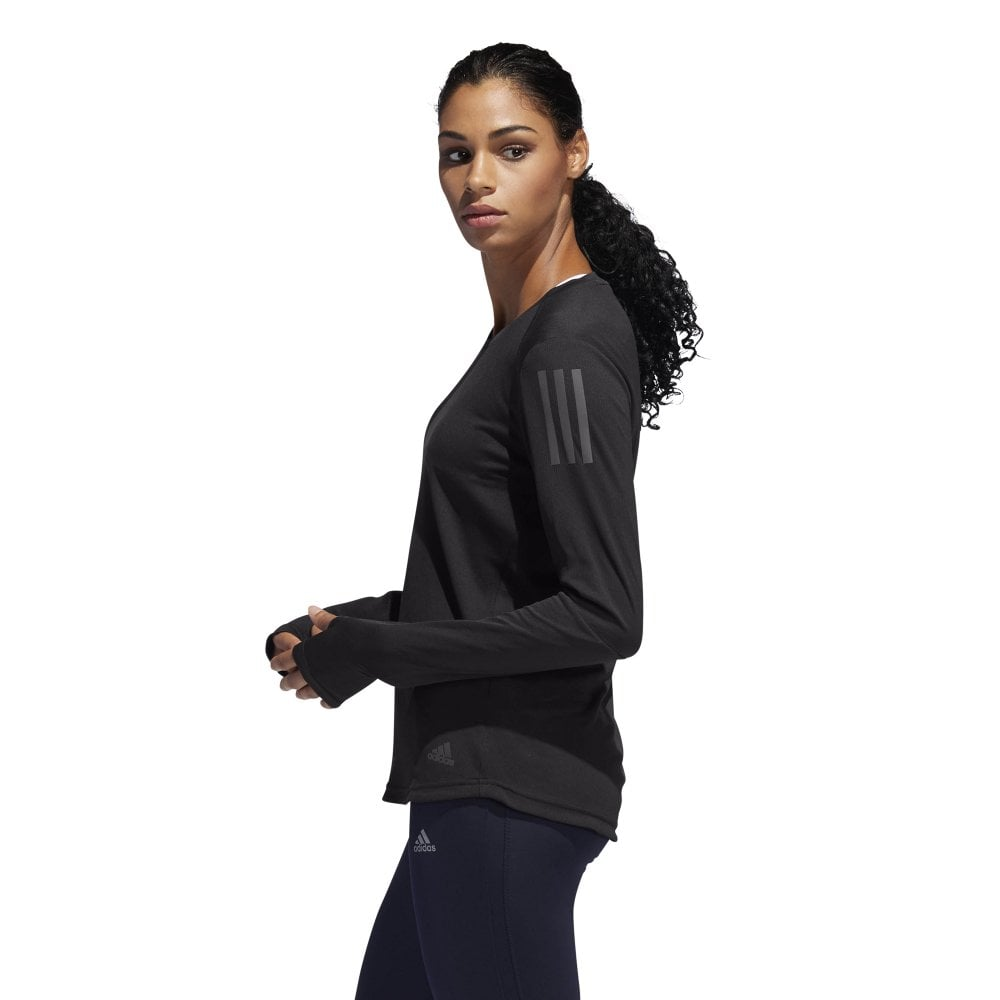 Sierra juntos Radar  adidas Women's Own The Run LS Running Top Black   BMC Sports