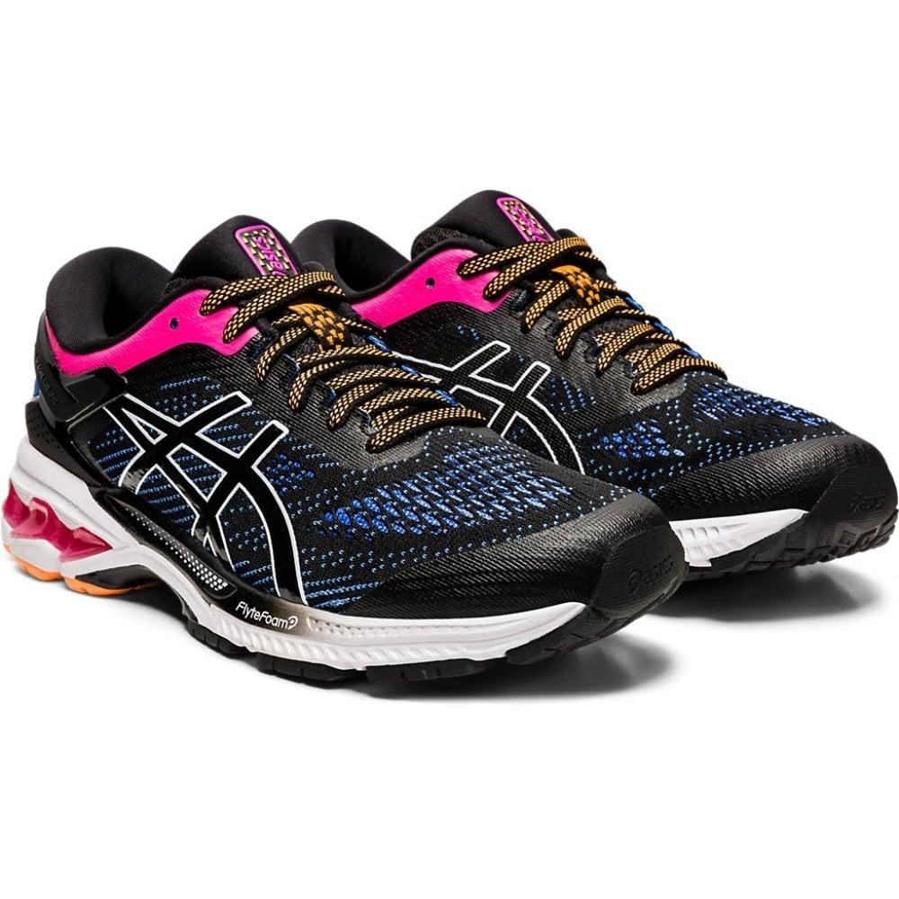 Gel-Kayano 26 Black/Pink Running Shoes