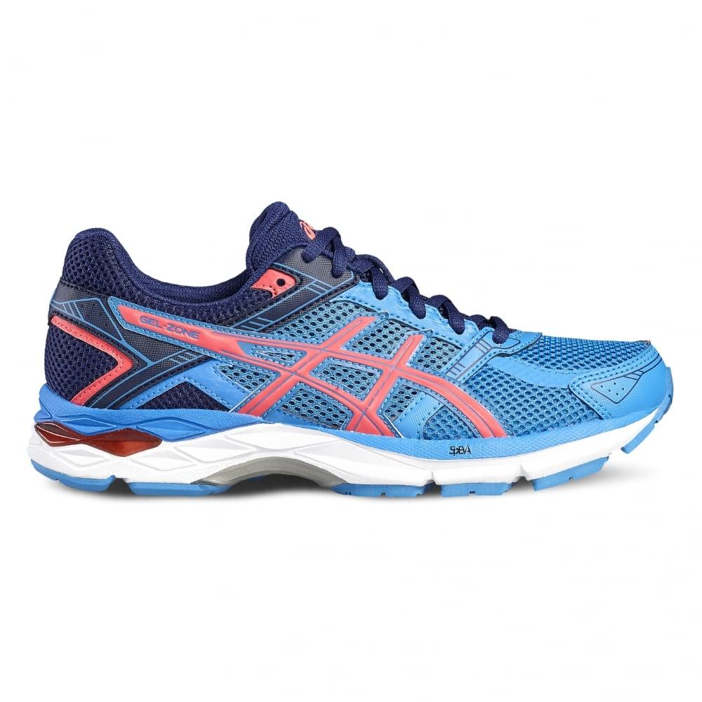 Asics Women's Gel Zone 4 Running Shoes Blue/Pink