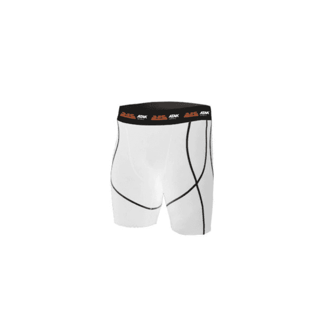 Atak Sports Compression Shorts White