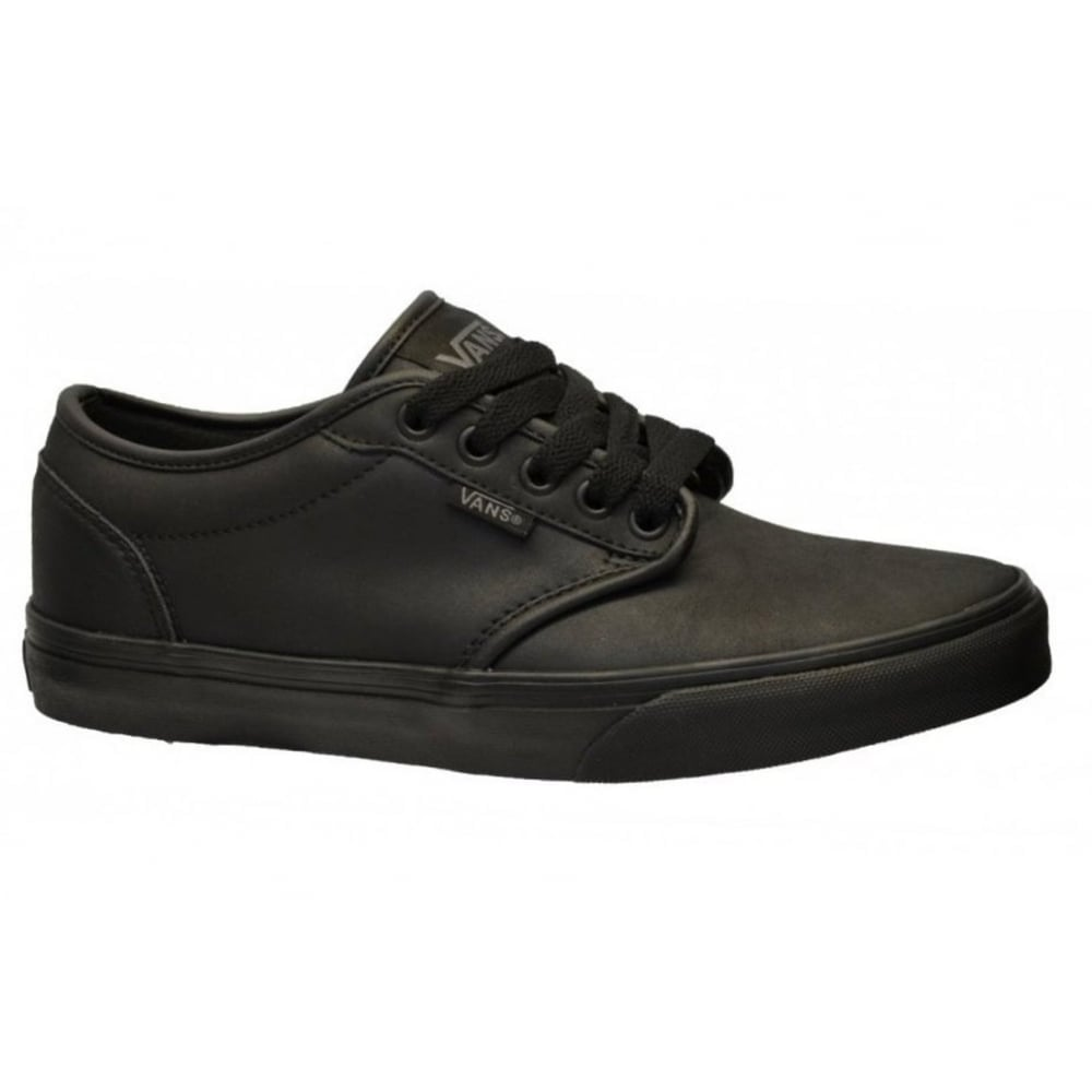 3678851ad1 Vans Atwood Triple Black Leather Shoe