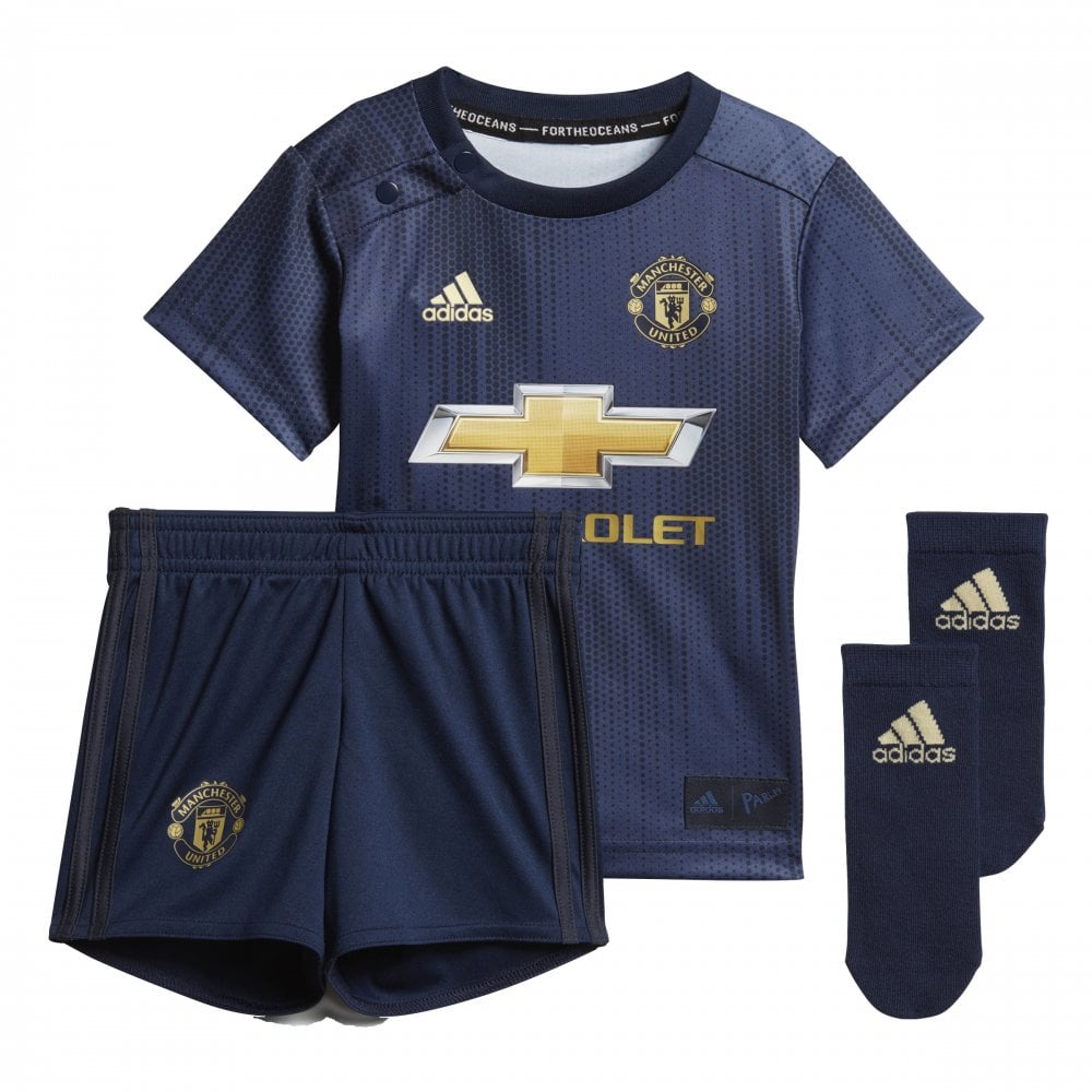 detailed look f5544 3a9ee Baby's Manchester United 3rd Mini Kit 18/19