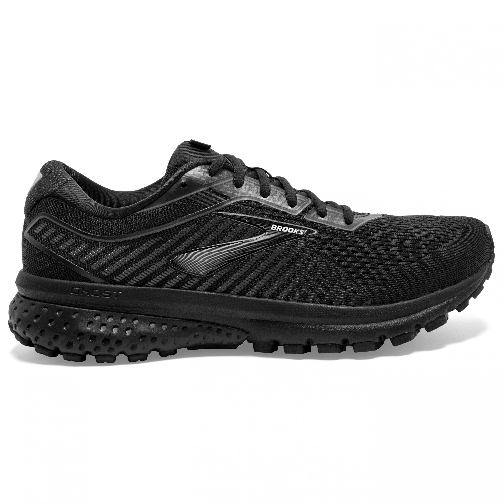 Ghost 12 Black Running Shoes (Wide Fit