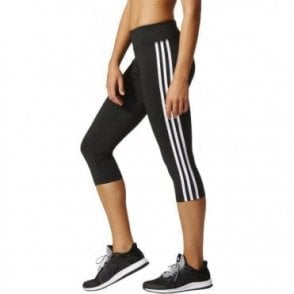 D2M Three-Quarter 3-Stripes Tights Black