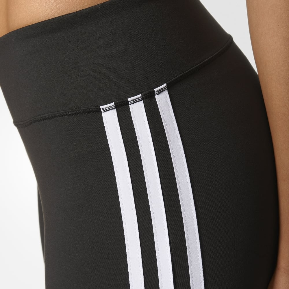 outlet store 05acc c2d30 D2M Three-Quarter 3-Stripes Tights Black
