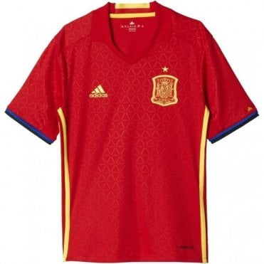 EURO 2016 SPAIN HOME REPLICA JNR JERSEY