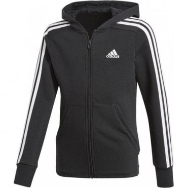 Girls 3 Stripe Full Zip Hoodie