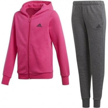 Girls Cotton Hooded Tracksuit