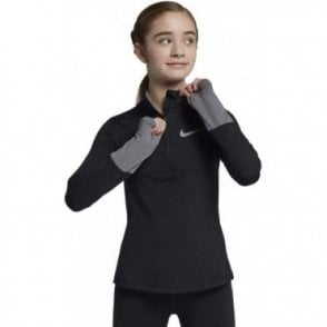 Girls Dry Element Half Zip Black