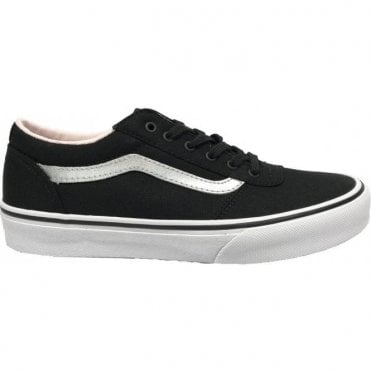 Girls Maddie Canvas Black/Silver
