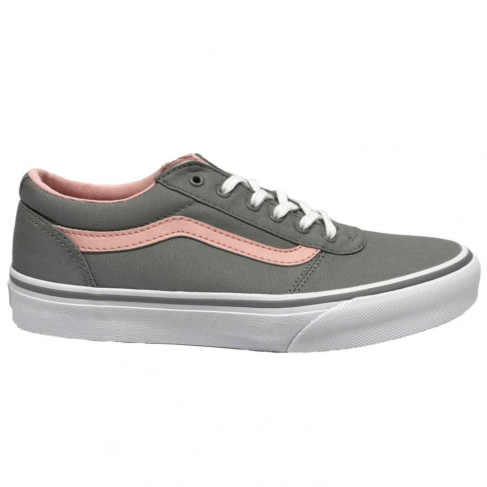 2c00f54e8d78 Vans Girls Maddie Canvas Grey Pink
