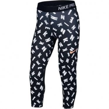 Girls Pro Printed Capri Leggings