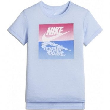 Girls Sportswear Graphic Tshirt Blue