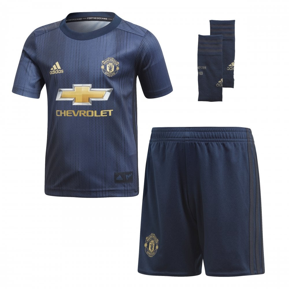 new style 206de 540d7 Infant's Manchester United 3rd Mini Kit 18/19