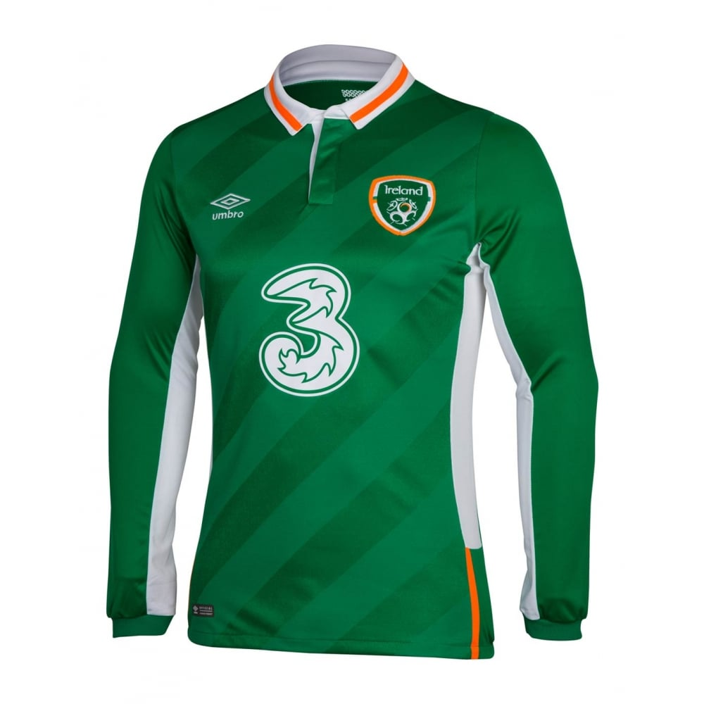the latest e52d8 0dd17 IRELAND HOME LS JERSEY 2016 | IRELAND JERSEYS ONLINE