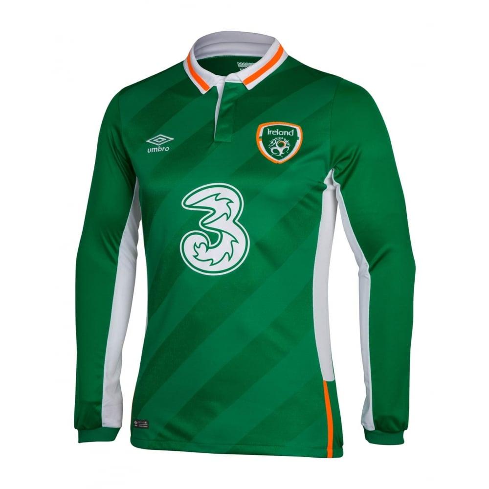 Ireland Home Ls Jersey Snr 2016 Ireland Soccer Gear