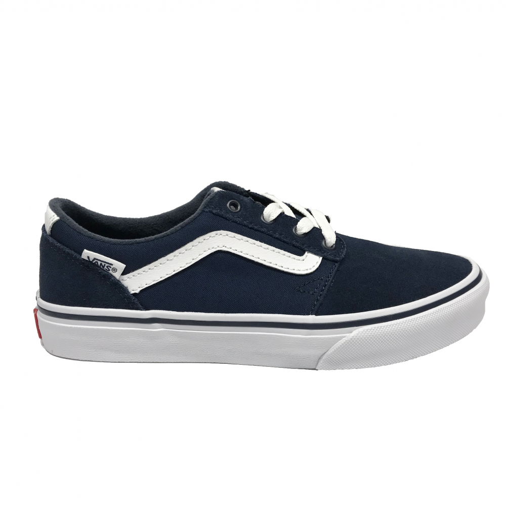 696538eb7b1 Vans Kids Chapman Stripe Suede Canvas Navy