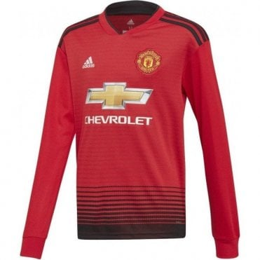 Kids Man United Home LS Jersey 18/19