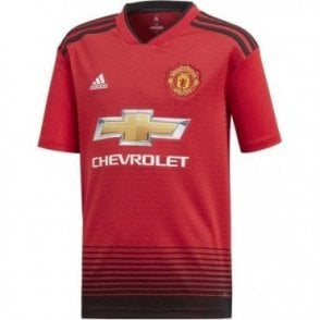 Kids Man United Home SS Jersey 18/19
