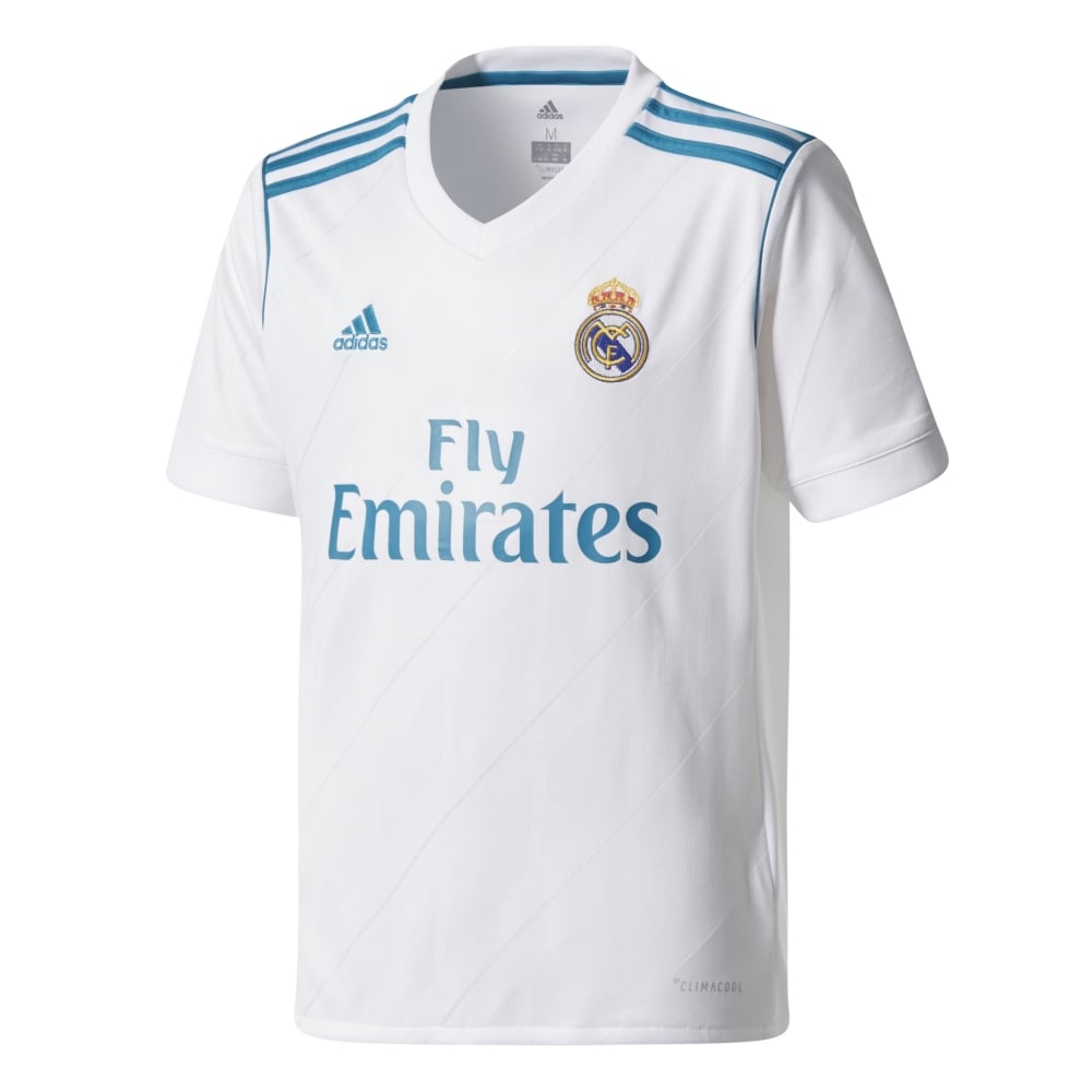 size 40 7acb9 3bd2e Kids Real Madrid Home Jersey 17/18