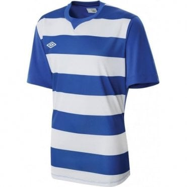 LEAGUE HOOPED JERSEY LS Blue and White