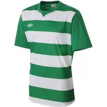 LEAGUE HOOPED JERSEY LS Green and White