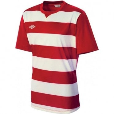 LEAGUE HOOPED JERSEY LS Red and White