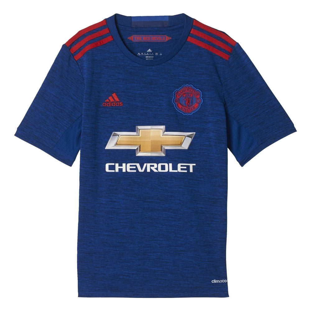 official photos f3566 7be40 MAN UNITED REPLICA SS JNR JERSEY