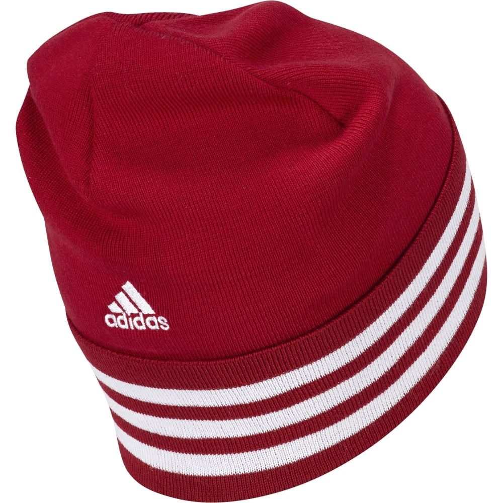 MANCHESTER UNITED FC 3 STRIPED WOOLIE HAT e2cc23cd701b