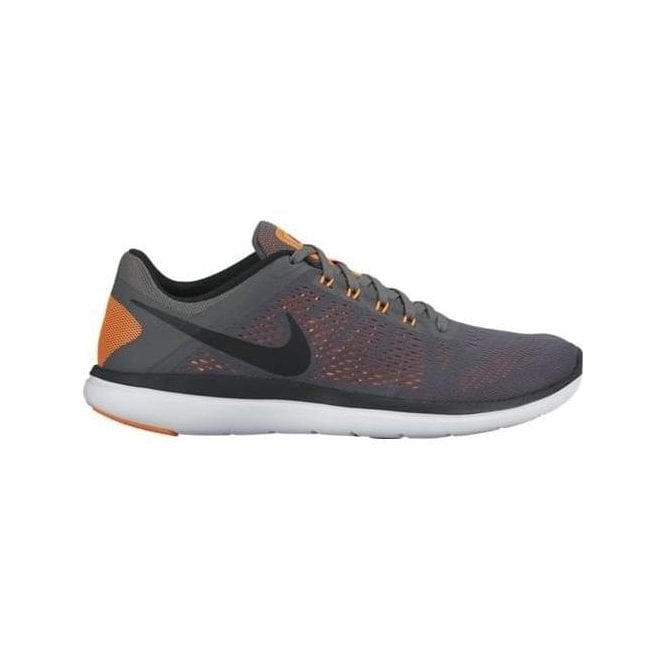 f34a61acf136d Nike Men s Flex 2016 RN Running Shoe Grey Orange