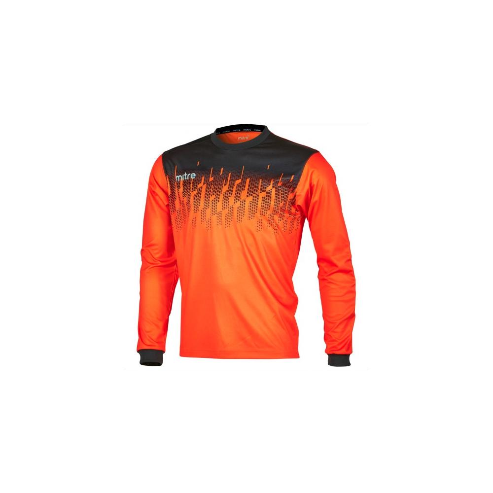 c9b11d30929 Mitre Command Goalkeeper Jersey Tangerine Black