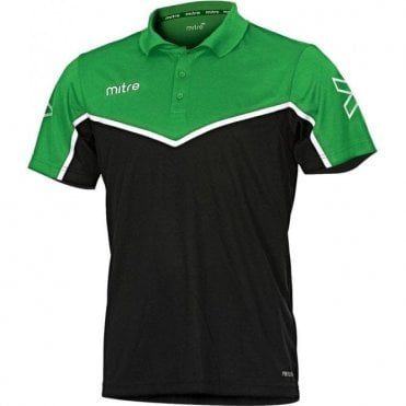 Mitre Primero Polo Emerald/Black/White