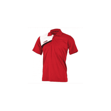 Mitre Polarize Polo Shirt Scarlet/White/Black