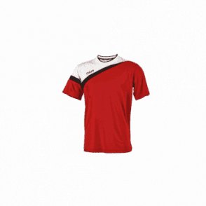 Mitre Polarize T-Shirt Scarlet/White/Black