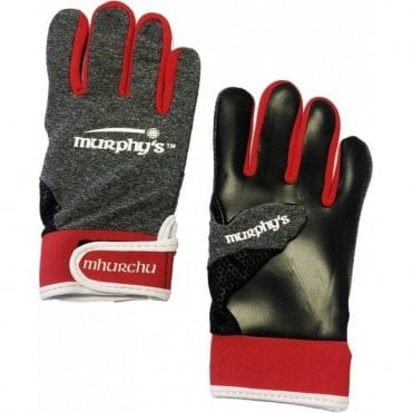 Gaelic Gloves Grey/Red