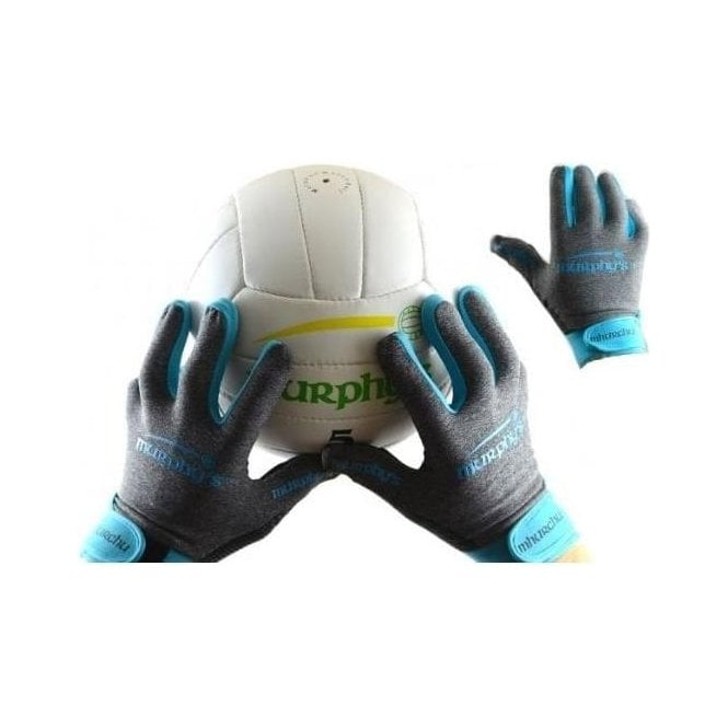 Murphy's Gealic Gloves Grey / Sky Blue
