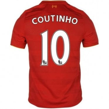 LIVERPOOL FC HOME COUTINHO JERSEY 2016