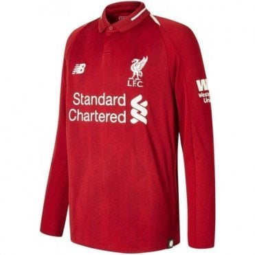 Men's Liverpool Home LS Jersey 18/19