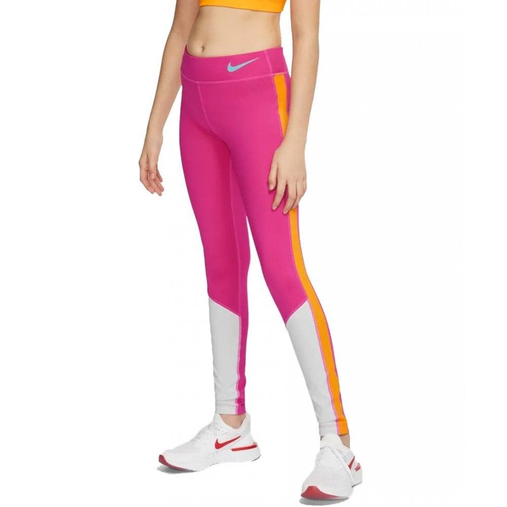 90ba33fd06 Nike Girls Trophy Colour-block Training Tights | BMC Sports