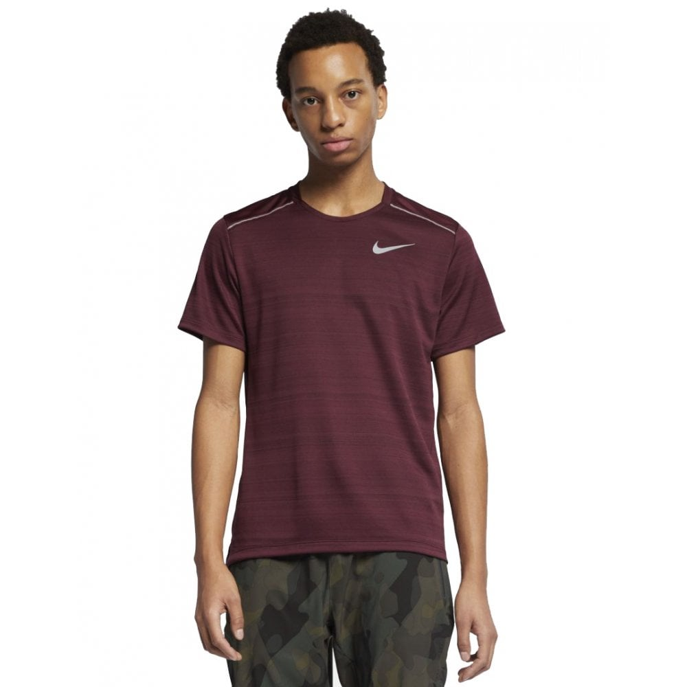 5fb413fd Nike Men's Dri-FIT Miler Running Top Maroon | BMC Sports