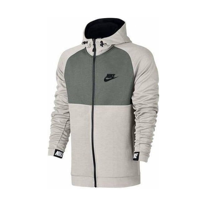Nike Men's Sportswear AV15 Full Zip Hoodie Bone