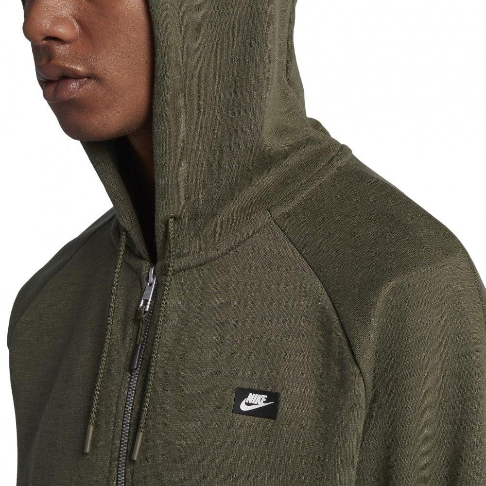 2aa0f7295f21 Nike Men s Sportswear Optic Full Zip Hoodie Khaki