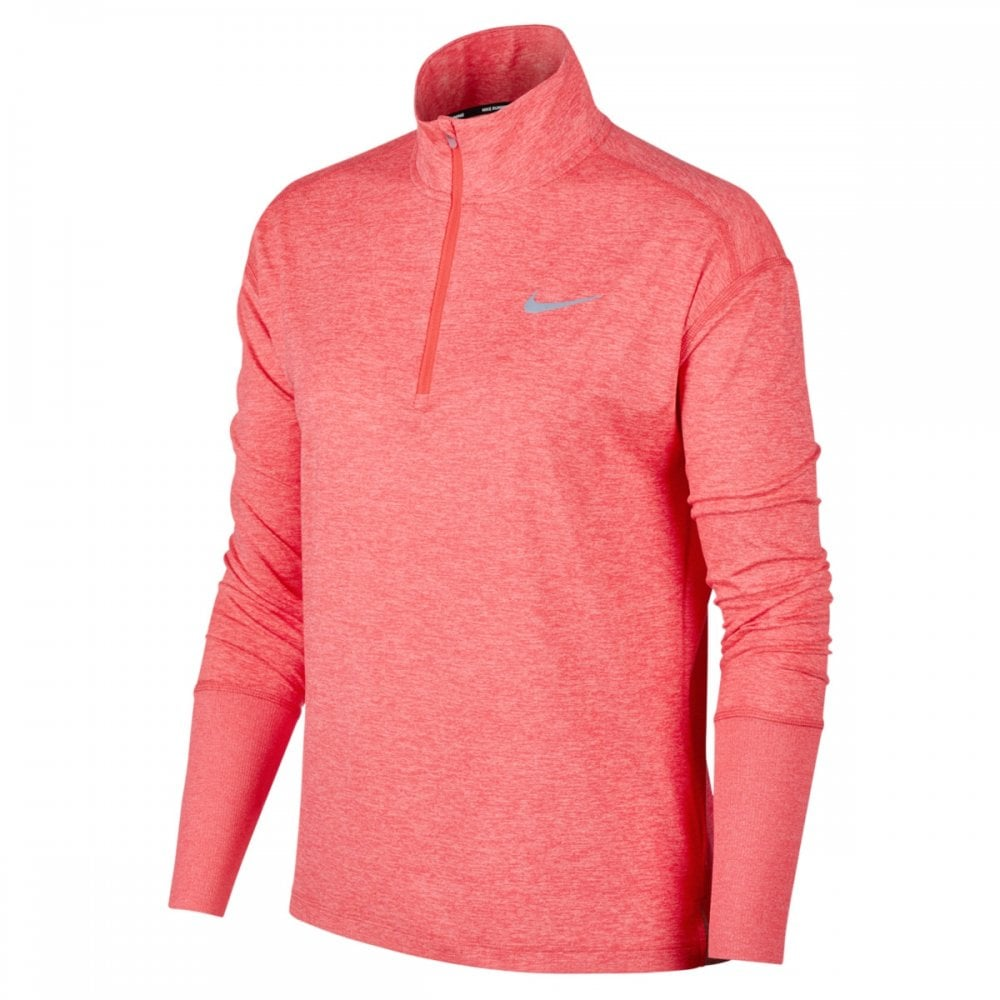 a590ef6d1427 Nike Women s Dri-FIT Element Quarter-Zip Pink