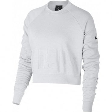 Women's Embossed Logo Cropped Jumper