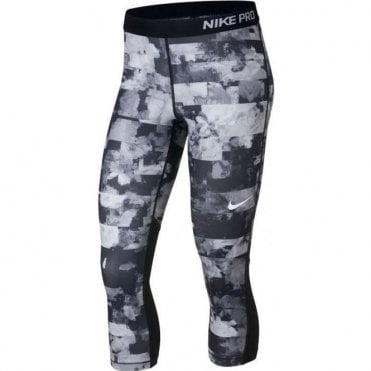 Womens Pro Capri Flower Jams Tight