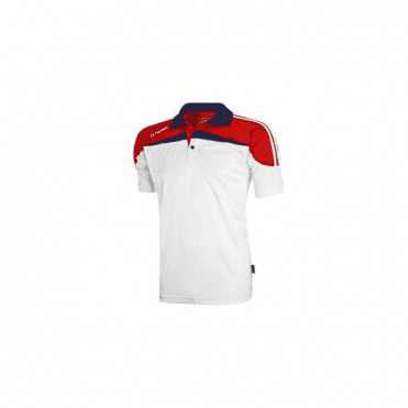 O'Neills Marley Polo White/Red/Navy